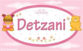 Detzani - Nombre para bebé