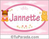 Nombre Nombre para bebé, Jannette