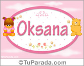 Oksana - Nombre para bebé