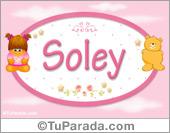 Soley - Nombre para bebé