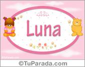 Nombre Nombre para bebé, Luna