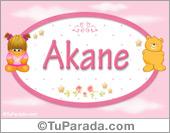 Akane - Nombre para bebé