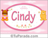 Nombre Nombre para bebé, Cindy