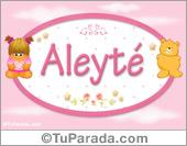 Aleyté - Nombre para bebé