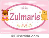Nombre Nombre para bebé, Zulmarie