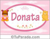 Nombre Nombre para bebé, Donata