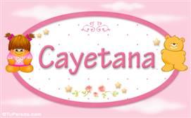 Cayetana - Nombre para bebé