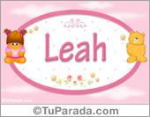 Nombre Nombre para bebé, Leah