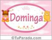 Nombre Nombre para bebé, Dominga