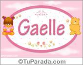 Nombre Nombre para bebé, Gaelle