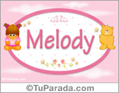 Nombre Nombre para bebé, Melody