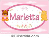Marietta - Nombre para bebé