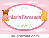 María Fernanda - Nombre para bebé