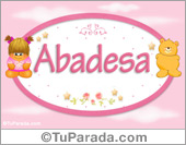 Abadesa - Nombre para bebé