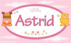 Astrid - Nombre para bebé