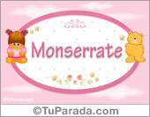 Nombre Nombre para bebé, Monserrate