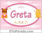 Nombre Nombre para bebé, Greta