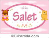 Nombre Nombre para bebé, Salet