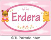 Nombre Nombre para bebé, Erdera