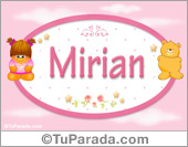 Nombre Nombre para bebé, Mirian