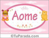 Nombre Nombre para bebé, Aome
