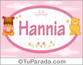 Nombre Nombre para bebé, Hannia