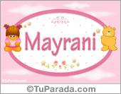 Nombre Nombre para bebé, Mayrani
