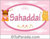 Nombre Nombre para bebé, Sahaddai