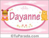 Nombre Nombre para bebé, Dayanne