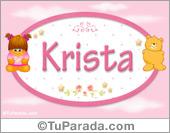Nombre Nombre para bebé, Krista