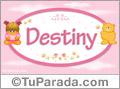 Nombre Nombre para bebé, Destiny