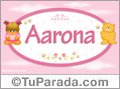 Nombre Nombre para bebé, Aarona