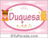 Nombre Nombre para bebé, Duquesa