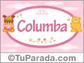 Columba - Nombre para bebé