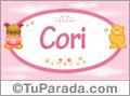 Nombre Cori - Nombre para bebé