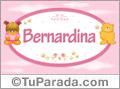 Bernardina - Nombre para bebé