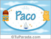 Paco - Nombre para bebé