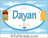 Dayan - Nombre para bebé