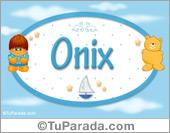Onix - Nombre para bebé