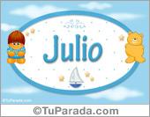 Julio - Nombre para bebé