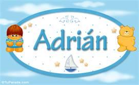 Adrián - Nombre para bebé