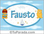 Fausto - Nombre para bebé