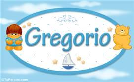 Gregorio - Nombre para bebé