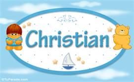 Christian - Nombre para bebé