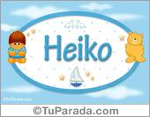 Nombre para bebé, Heiko