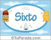 Sixto - Nombre para bebé