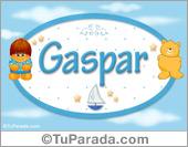 Gaspar - Nombre para bebé