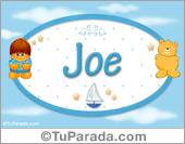 Joe - Nombre para bebé