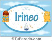 Nombre Nombre para bebé, Irineo