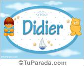 Didier - Nombre para bebé